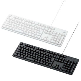 キーボード パソコン用キーボード 有線キーボード メンブレン式 フルサイズ テンキー有 標準日本語配列 エレコム TK-FCM104