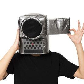 かぶりもん ビデオカメラかぶりもの かぶりもの キャップ 帽子 かんたん仮装 カメラ ビデオカメラ おもしろ 小道具 仮装 変装 宴会 コスプレ クリアストーン 4560320888796