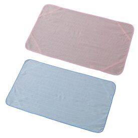 夏用 寝具 布団 ひんやり 爽やか 冷感 敷きパッド ベビーベッドパッド ベビーマット クールでドライな清涼ベビーベッドパッド 2カラー(ブルー・ピンク) 吸水速乾 接触冷感 さらさら ドライ 丸洗いOK 快適睡眠 (有)豊富 h491