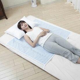 敷きパッド 快眠 寝苦しさ解消 さらさら クールでドライな清涼敷きパッド 羽シート付きハーフサイズ シングル 熱帯夜 豊富 h489