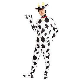 うし全身タイツ 牛柄 全身タイツ 全タイ メンズ コスチューム 干支 年賀状撮影 丑年 うし 牛 2021年干支 令和3年 お正月 仮装 変装 コスプレ 衣装 クリアストーン 4560320895176