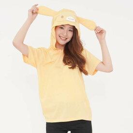 カプチーノフーディサマーTシャツ フードTシャツ サンリオキャラクターズ レディースサイズ Tシャツ カプチーノ サザック SAN-1293-E