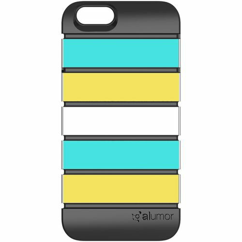 【値下】SKIN PLAYER iPhone 6s/6 Alumor ウレタン&アルミケース Mint / Light Yellow 製品型番:ALMI6MT-LYL
