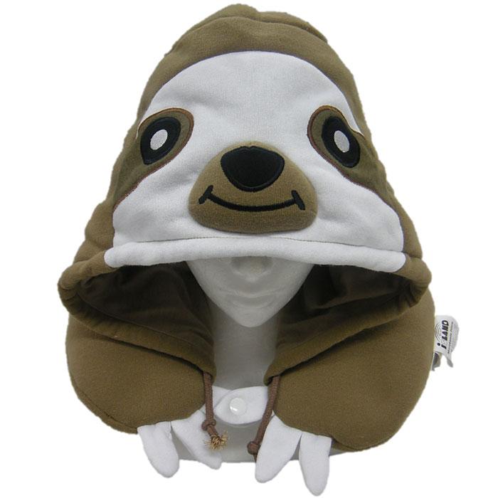 SAZAC Island ナマケモノ着ぐるみネックピロー 動物 アニマル 着ぐるみキャップ 枕 かぶりもの マスク 仮装 変装 コスチューム 男女兼用 サザック 2818