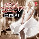 SEXY MARILYN セクシーマリリン マリリン・モンロー風 ドレス 白 コスチューム コスプレ 変装 仮装 クリアストーン 19519200481
