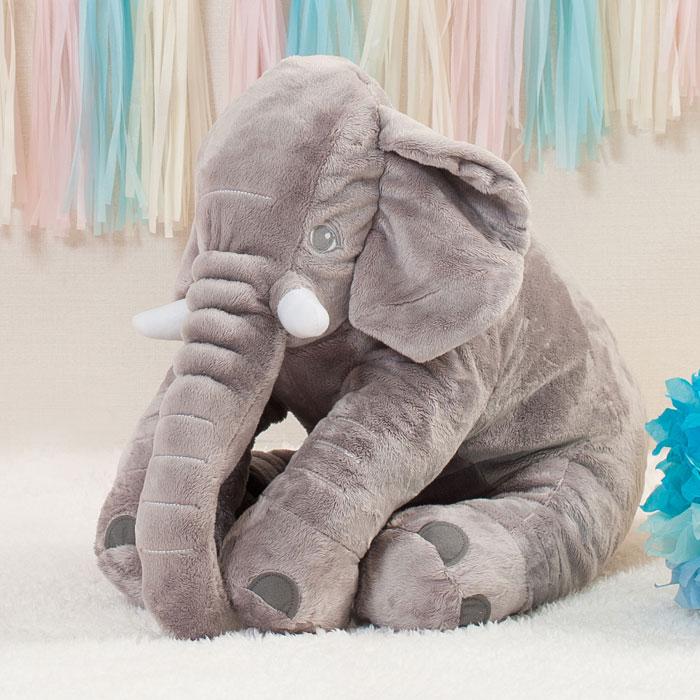 ゾウのぬいぐるみ 灰色 象 ぞう 動物 アニマル 人形 おもちゃ インテリア グッズ 雑貨 プレゼント クリアストーン 4580136527290