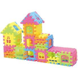 おうちブロック 家 デザイン 玩具 おもちゃ 遊戯 学習 部品 接続 組合せ 室内遊び 外遊び 子供用 アーテック 3154