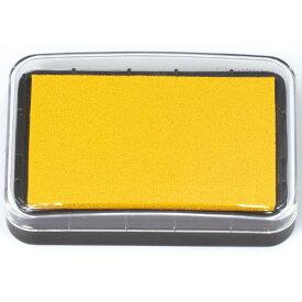 カラースタンプ台 イエロー スタンプ インク スタンプ台 朱肉 ハンコ 印鑑 インクパッド 携帯 便利 アーテック 24130