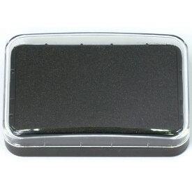 カラースタンプ台 ブラック スタンプ インク スタンプ台 朱肉 ハンコ 印鑑 インクパッド 携帯 便利 アーテック 24132