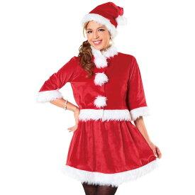 ベイシックサンタ レッド Ladies レディース サンタ クリスマス コスプレ コスチューム 衣装 仮装 変装 クリアストーン 4580136526217