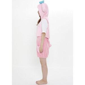 マイメロなりきりサロペットセットサンリオマイメロディコスプレコスチューム衣装仮装変装レディースサイズサザックSAN-1037