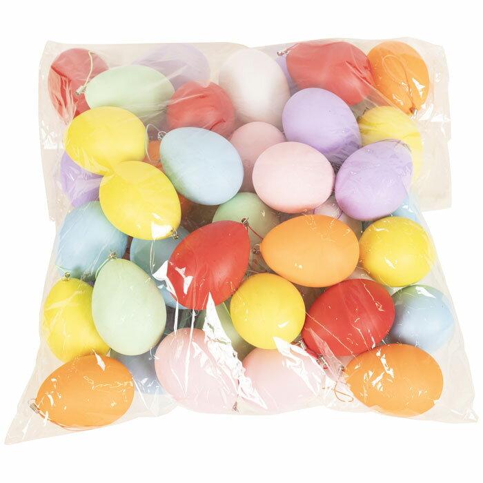 カラフルエッグセット 50個 たまご 卵 装飾 DP デコレーション グッズ 雑貨 小道具 玩具 パーティー イースター クリアストーン 4560320884446