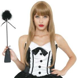 Magical Doll Premium 羽鞭 black むち ムチ SM おしおき セクシー ファッション 女王様 コスプレ 仮装 変装 グッズ 小道具 クリアストーン 4560320863670