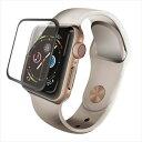 Apple Watch 5/4シリーズ 44mm フルカバーガラスフィルム 全面保護 セラミックコート フレーム付 指紋防止 エレコム A…