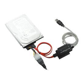 【あす楽 送料無料】【SATA/IDE-USB2.0】USB変換アダプタ IDE/SATAのHDDをそのままUSB接続 3.5インチ/2.5インチHDD対応 グリーンハウス GH-USHD-IDESA