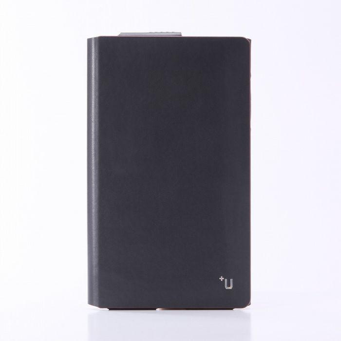 【値下】dtab Compact d-02H ディータブコンパクト ケース/カバー +U James One Sheet of Leather case ブラック LEPLUS LP-D02HLFJBK