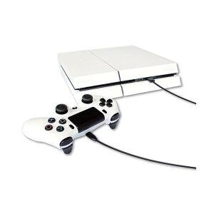 【あす楽】プレイステーション4PS4充電しながらプレイできるコントローラUSB充電器充電ケーブルMicroUSBケーブル3mブラックアローンALG-P4MU3K