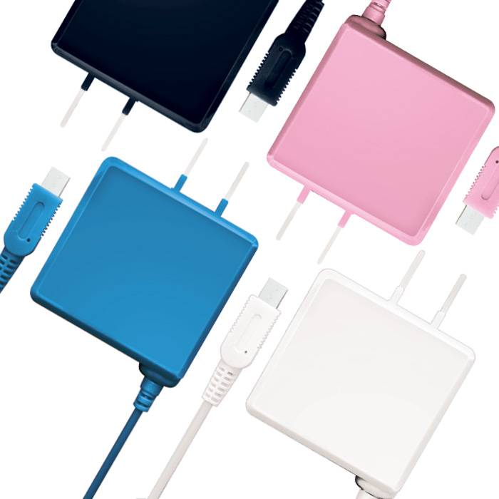 newニンテンドー3DS/3DSLL ケーブルの長さ2.5m コンセントが遠くても安心 長いAC充電器 アローン ALG-3DS250