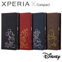Xperia X Compact SO-02J エクスペリアXコンパクト ケース/カバー Disney ディズニーキャラクター 手帳型ケース ホッ…