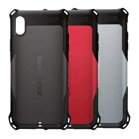 iPhone XS Max アイフォン テンエス マックス 6.5インチ ケース カバー ZEROSHOCK スタンダード ブラック エレコム PM-A18DZEROBK