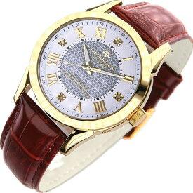ジョンハリソン 腕時計 ウォッチ 4石天然ダイヤモンド付 ソーラー電波 高級 ブランド メンズ J.HARRISON JH-085MGW