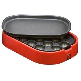 ネオーブ ミニホットプレート(赤)平面 たこ焼き コンパクト おしゃれ レッド NEOVE NWG-2065AR