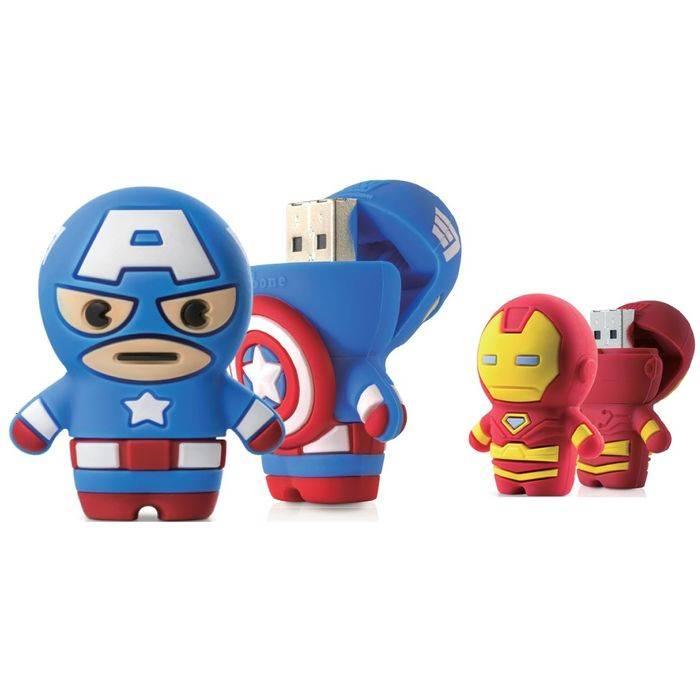 USB Driver3.0 高速 USB3.0メモリー 16GB MARVEL マーベル アベンジャーズ キャプテン アメリカ Captain America アイアンマン Iron Man Driver3.0 Bonecollection DR1803*-16R