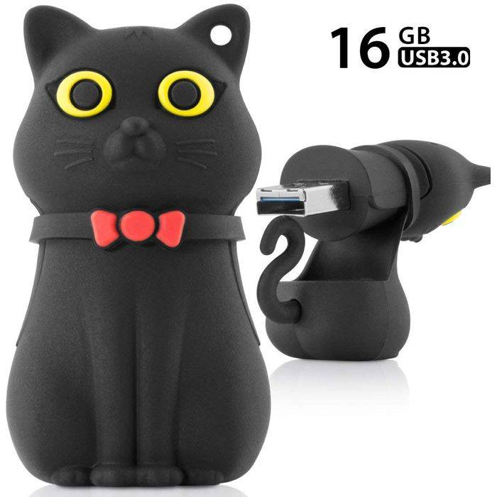 USB Driver3.0 高速 USB3.0メモリー 16GB Miao Cat ネコ ねこ 猫 Driver3.0 Bonecollection DR18044-16BK