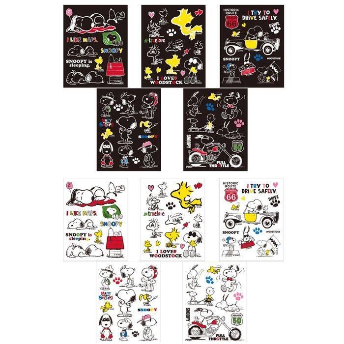 転写 ステッカー シール PEANUTS SNOOPY STICKER transcription SNOOPY スヌーピー 転写ステッカー 日本製 10種類(5デザイン・2カラー) アークス SNS-6*