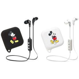 ワイヤレス ステレオ イヤホン ブルートゥース Bluetooth (R) 4.1搭載 WIRELESS STEREO EARPHONE シリコンポーチ付き ミッキーマウス 2カラー(ブラック・ホワイト) PGA PG-BTE1SD0*MKY