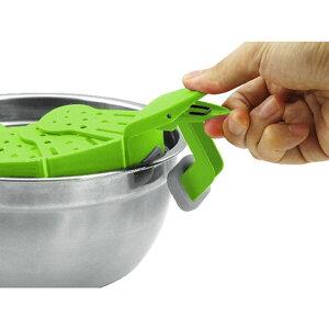 【あす楽】TVで話題!家庭にあるサイズの異なるお鍋やフライパンに付けるだけで楽々湯切りスナップビットSnapbitEXELUXDAKSNB-**