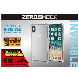 iPhone XS アイフォン テンエス 5.8インチ ZEROSHOCK スタンダード インビジブル クリア エレコム PM-A18BZEROTCR
