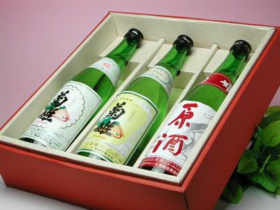 【楽ギフ_包装】菊姫 普通酒 三種飲み比べセット