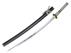 模造刀(美術刀) 黒石目(くろいしめ)大刀 灰糸◆オリジナル模造刀