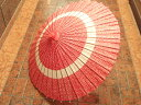 和傘(わがさ)花輪模様(赤)◆結婚式 披露宴 和装 着物 七五三 コスプレ 成人式 小道具 演劇 時代劇 蛇の目傘