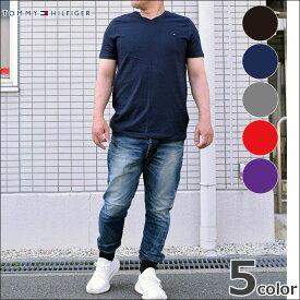【TOMMY HILFIGER トミーフィルフィガー 】Vネック Tシャツ メンズ 半袖 09T3140 ブランド 人気 楽天 人気ブランド おすすめ トミー・ヒルフィガー 10代 20代 30代 40代 メンズファッション 楽天スーパーセール対象商品 タイムセール