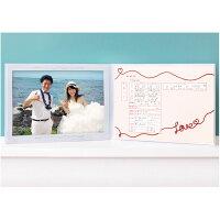 記念保存用婚姻届と写真を飾れる見開き型のアルバム