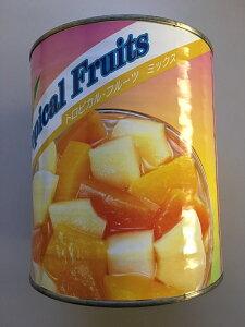フルーツポンチなどに【業務用】【大容量】天狗缶詰 トロピカル・フルーツミックス 1号缶 3030g 缶詰 ヨーグルト フルーツゼリー