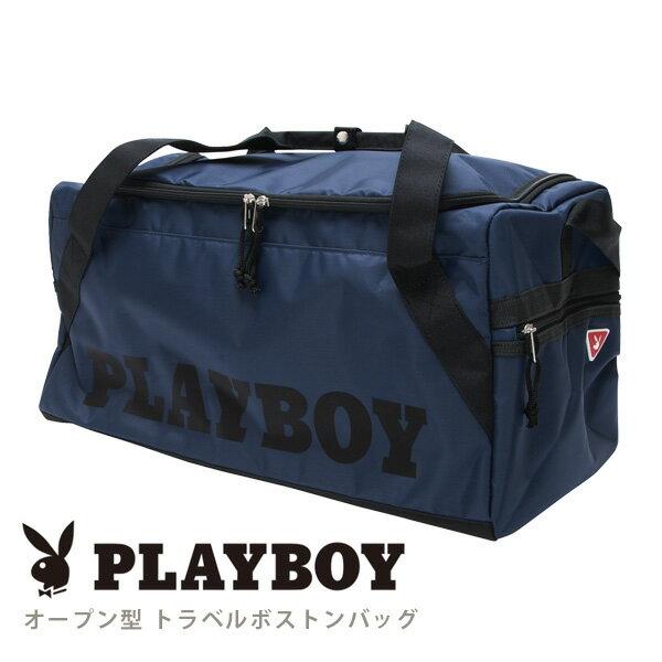 PLAYBOY ポイントモチーフ オープン型 トラベル ボストンバッグ