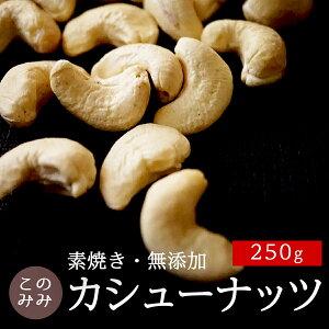 ナッツ 無塩 無添加 小袋 オイル不使用 ロースト 健康 美容 おつまみ 小分け 日本製 製菓 製パン お中元 おやつ 素焼き カシューナッツ 250g