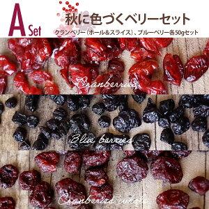 【送料無料】秋のドライフルーツセットA 秋に色づくベリーセット