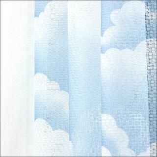 晴れってキモチイイ」雲柄ミラーカーテン2枚組ミラーレースカーテン(レースカーテン)【2sp_120405_a】