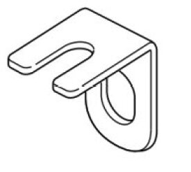 TOSO エリート用 キャップ一体型リターン金具 1個 カーテンレール エリート用部品