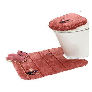 魔女の宅急便 ひるさがり 洗浄便座ふたカバー ロングトイレマット スリッパ 3点セット