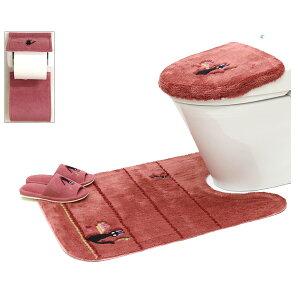 魔女の宅急便 ひるさがり 洗浄便座ふたカバー ロングトイレマット スリッパ ホルダーカバー 4点セット