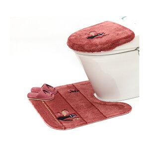 魔女の宅急便 ひるさがり 洗浄便座ふたカバー トイレマット 子どもスリッパ 3点セット
