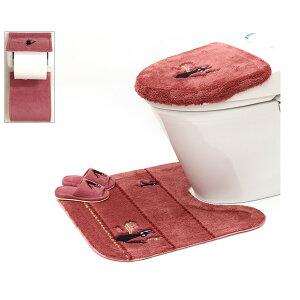 魔女の宅急便 ひるさがり 洗浄便座ふたカバー トイレマット 子どもスリッパ ホルダーカバー 4点セット