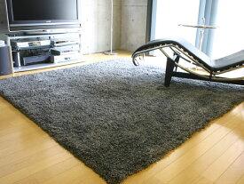 床暖房・ホットカーペットにも対応♪ モノミックス シャギーラグ 140cm×200cm