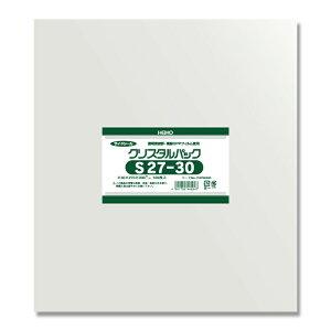 HEIKO OPP袋 クリスタルパック S27−30 (サイドシール) 100枚