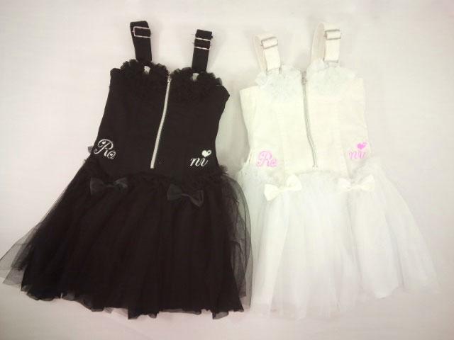 【さらに値下げしました!!】【セール】RONI(ロニィ)★チュールフリル付きチュチュジャンパースカート